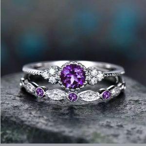 🆕 Beautiful purple CZ Rhinestones Ring 💍
